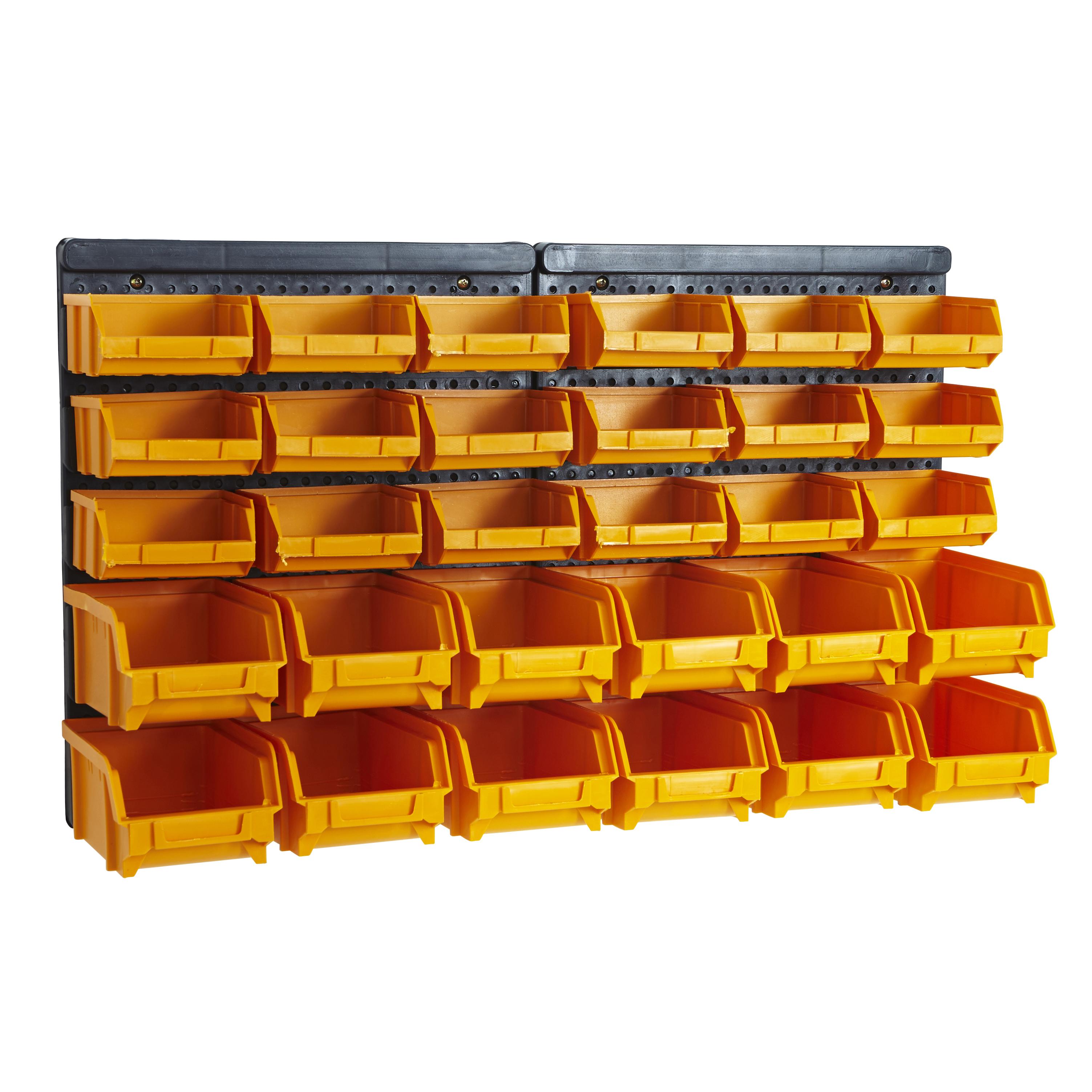 Flexible Garage Wall Storage: Garage Wall Tool Panel Rack Kit Shelves Part Bins Storage