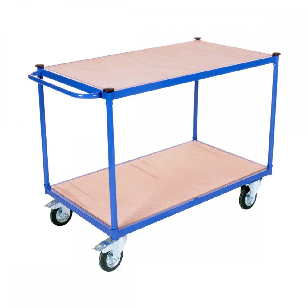 2 Tier Table Shelf Trolley 500kg Udl Moble Trolleys Hand