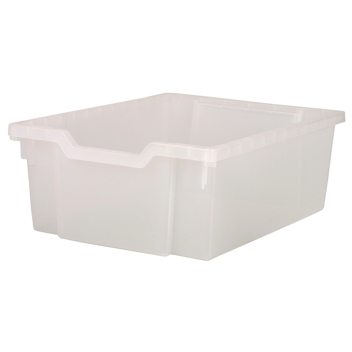 Deep plastic tray