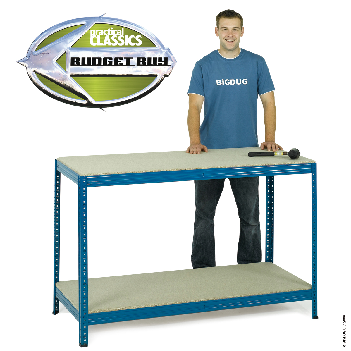 Heavy Duty Industrial Workbench Steel, Melamine Or Chipboard 300kg Garage Enlarged Preview