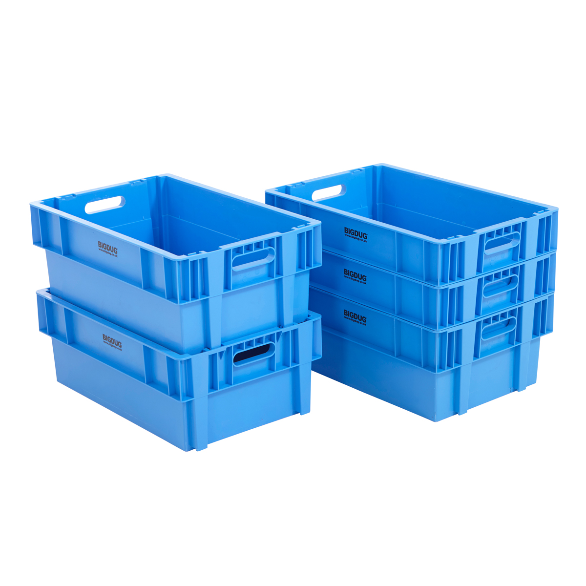 blue euro box stacking plastic 44 litre nestable heavy. Black Bedroom Furniture Sets. Home Design Ideas