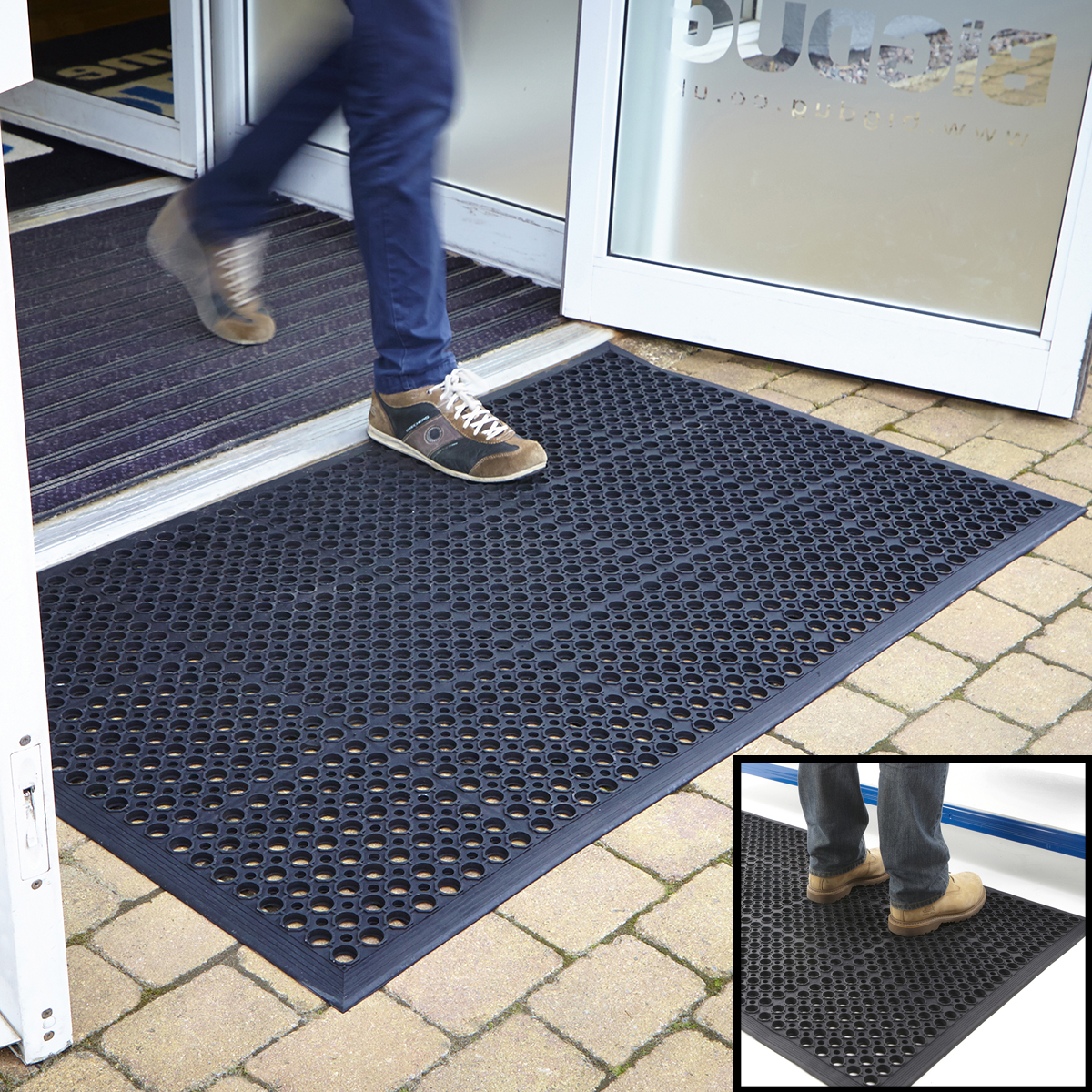 Entrance mat outdoor rubber indoor large door mats large for Indoor front door mats