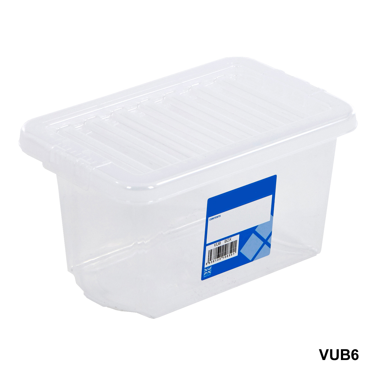 plastic storage box containers blue clear pink wham 16 80 litres with lid boxes ebay. Black Bedroom Furniture Sets. Home Design Ideas