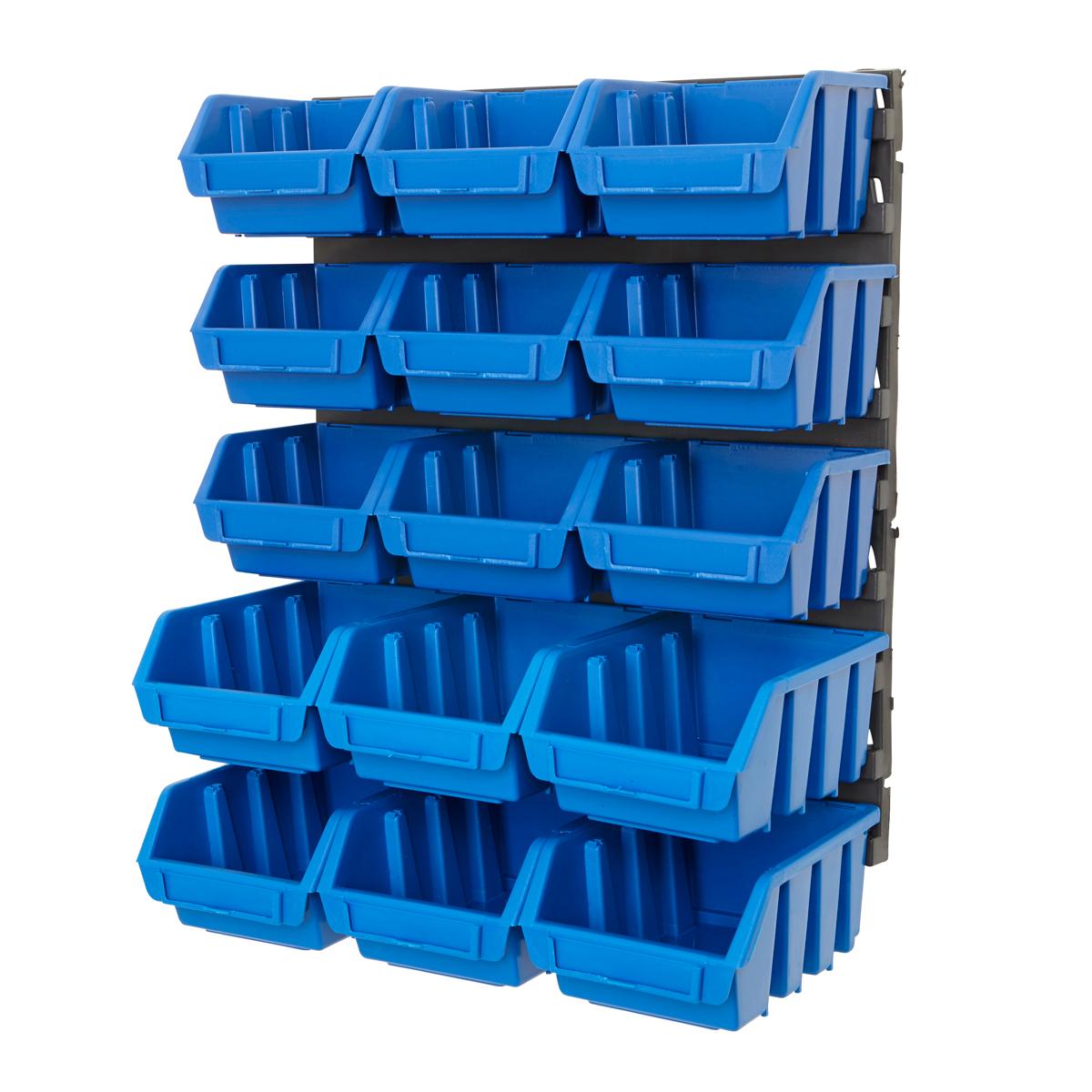 Plastic Bin Kit Wall Garage Storage Parts Bins Tool Diy