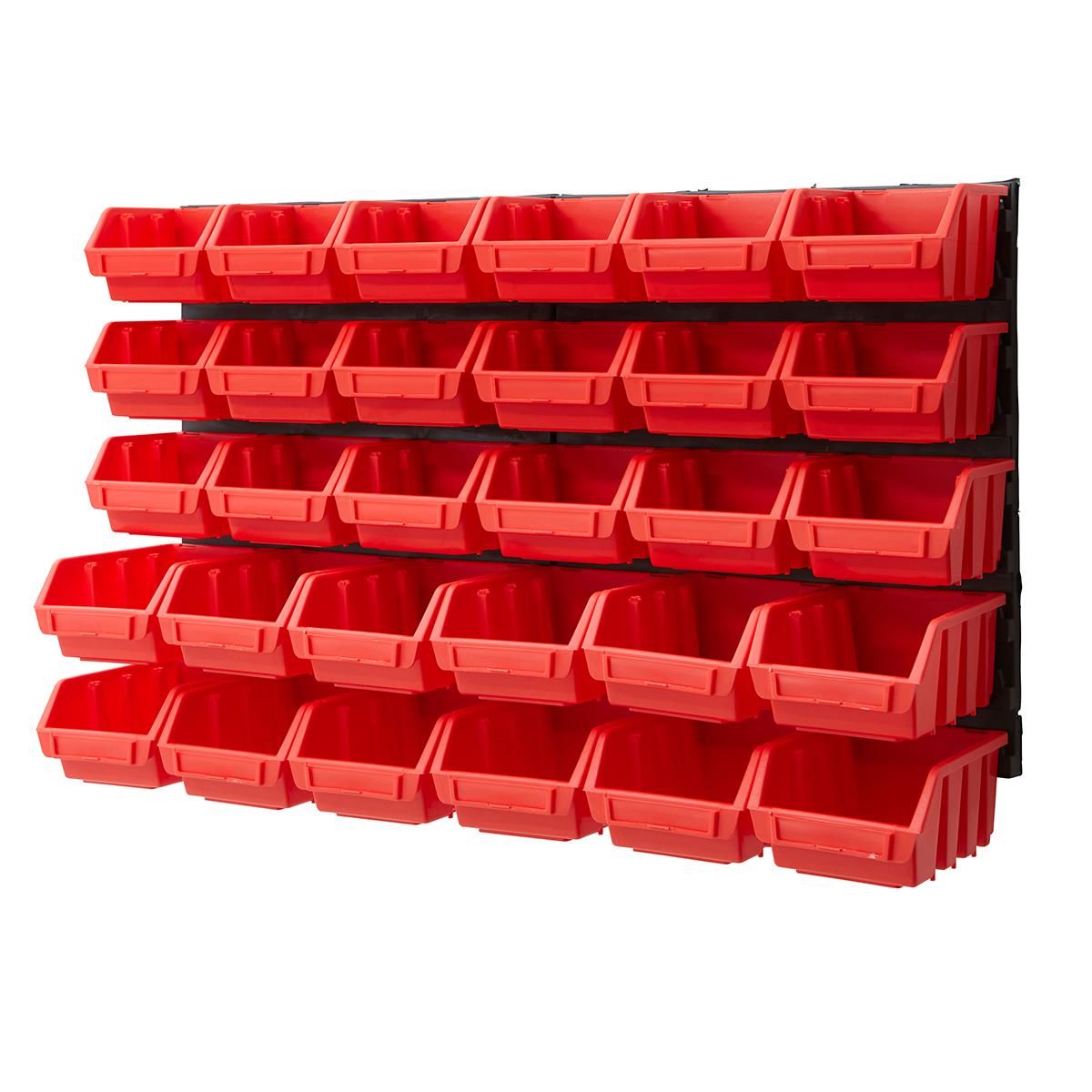 Part Storage For Garages : Plastic bin kit wall garage storage parts bins tool diy