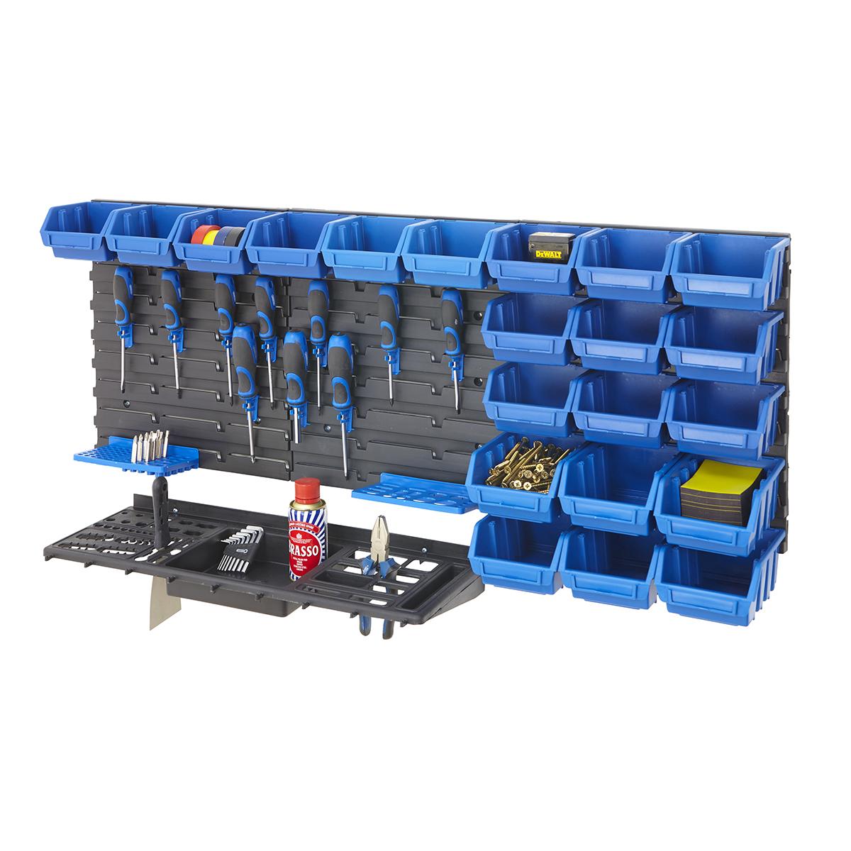 Tool Rack Kit Amp Louvre Panel Bin Kit Garage Shelving
