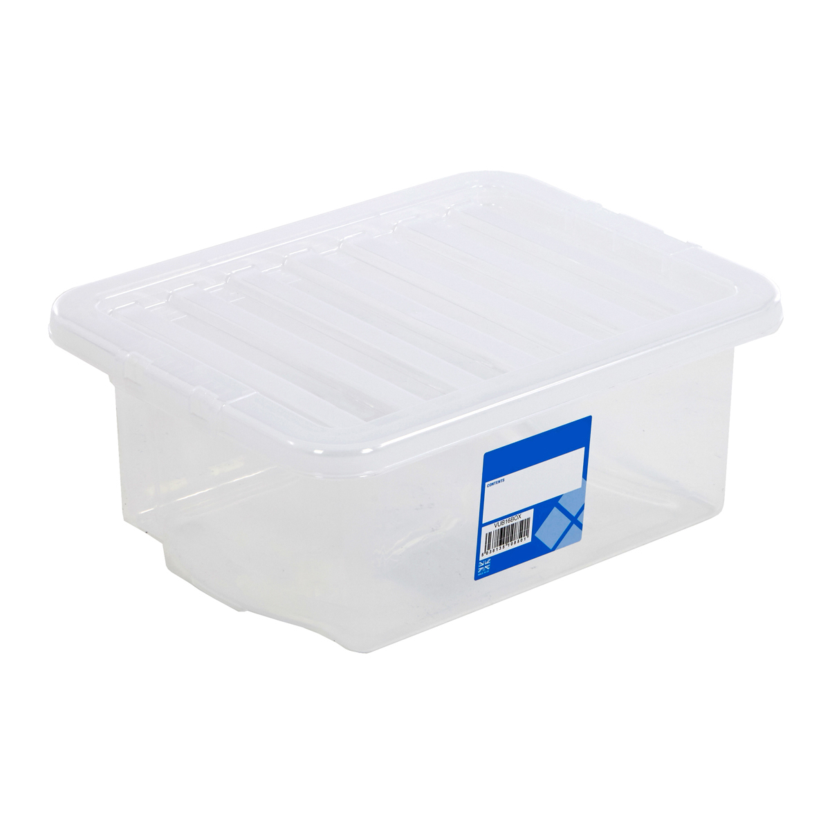 16 litre plastic storage boxes with lids container multi packs home office box ebay. Black Bedroom Furniture Sets. Home Design Ideas