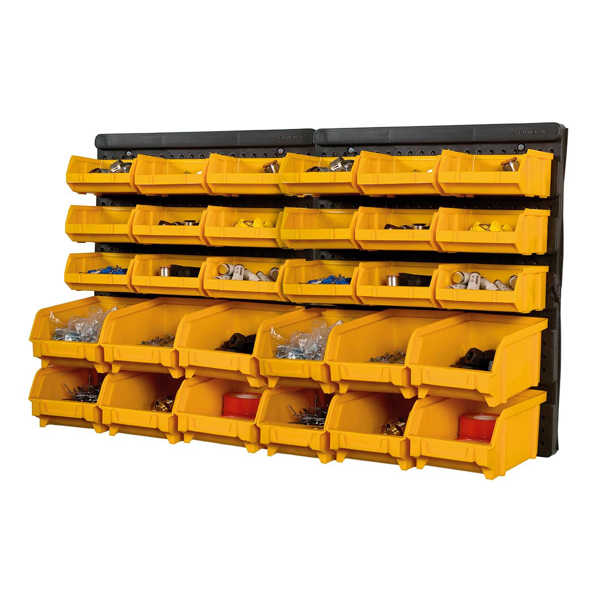 Part Storage For Garages : Plastic bin kit wall garage storage parts bins tool
