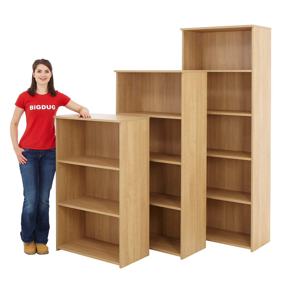 Marvelous photograph of Oak Office Bookcase 4/5/6 Tier Shelving Unit Wooden Office Furniture  with #B21921 color and 1200x1200 pixels