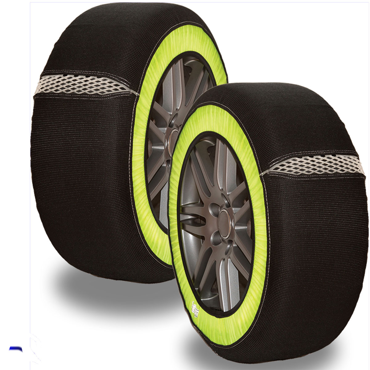 Universal Multigrip. Size M. Anti-skid Snow Sock And Ice Wheel Covers Tyre Grip Enlarged Preview
