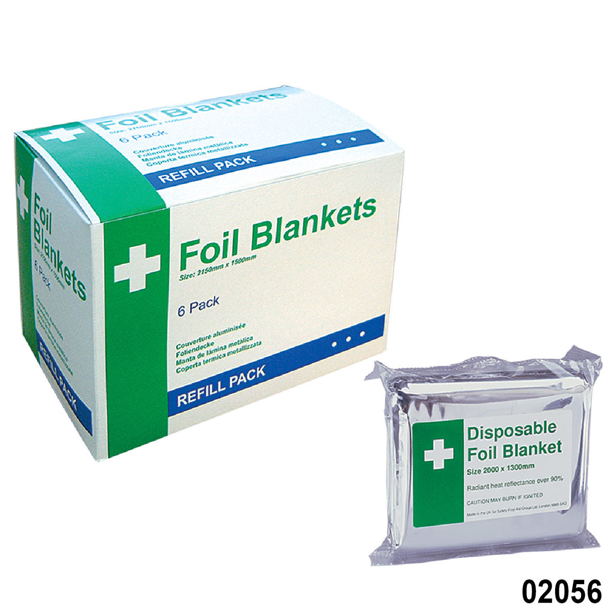Disposable Foil Blankets Pack of 6