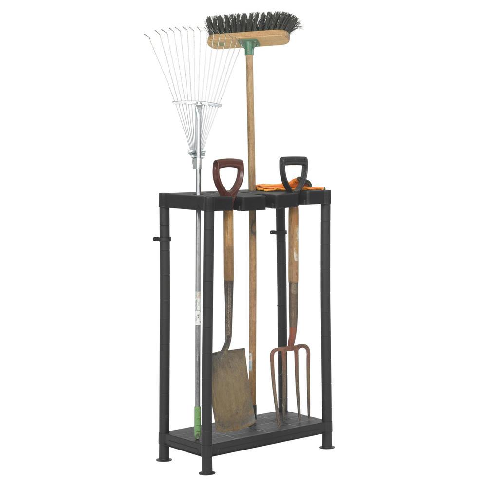 Plastic garden tool tidy bernard 39 s bargains bernard 39 s bins for Gardening tools organizer
