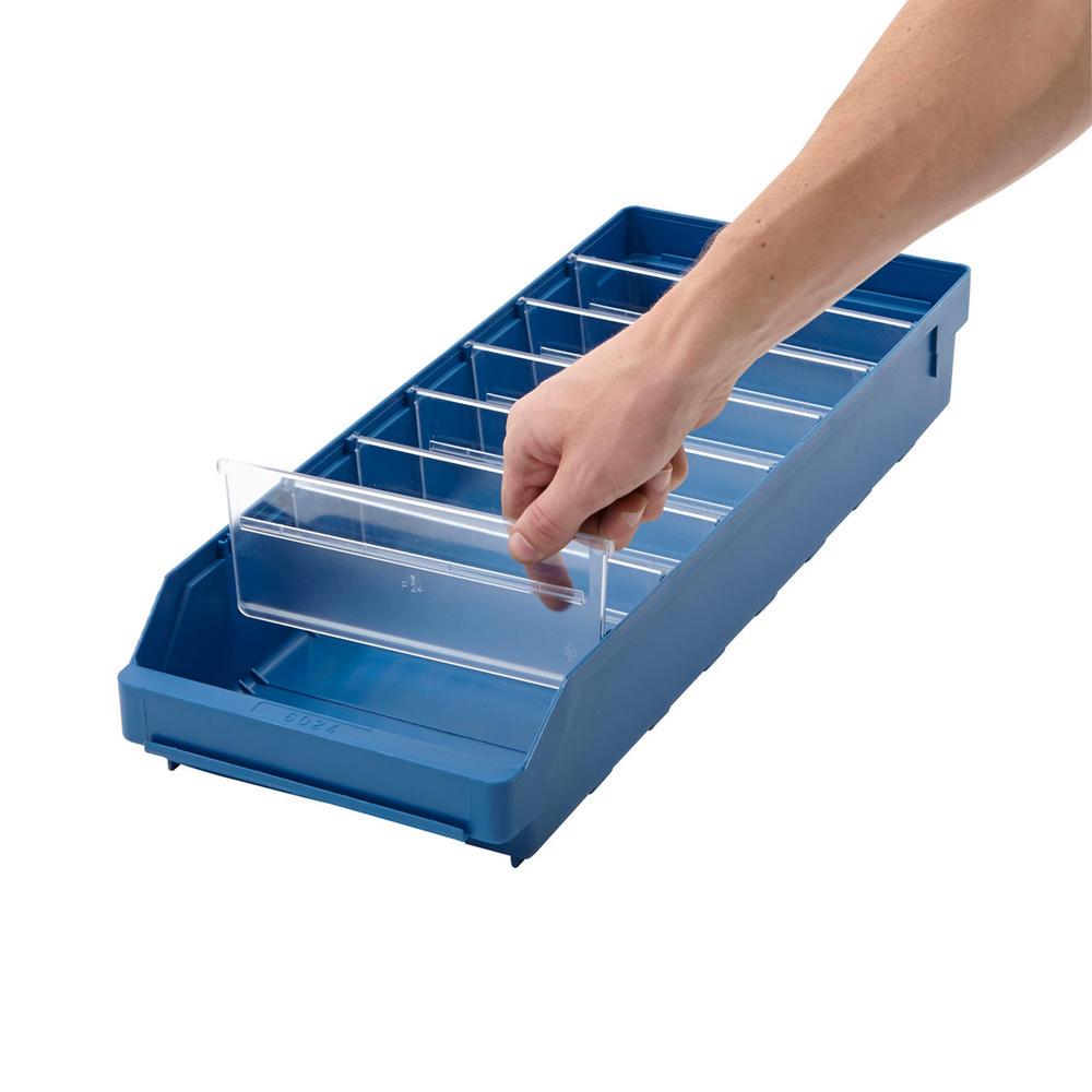 50 Drop Front Shelf Bin Dividers 90mm Wide