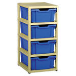 Gratnells 4 Tray Storage Units Thumbnail 1