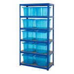 Shelving Storage Bays With Plastic Boxes Thumbnail 1