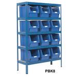 Shelving Storage Bays With Plastic Bins Thumbnail 8