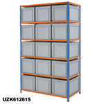 1220mm Wide Shelving Kits With Euro Containers Thumbnail 3