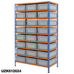 1220mm Wide Shelving Kits With Euro Containers Thumbnail 9