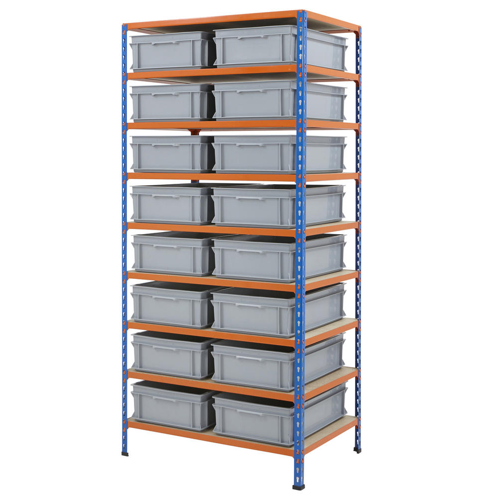 915mm Wide Shelving Kits With Euro Containers