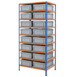 915mm Wide Shelving Kits With Euro Containers Thumbnail 1
