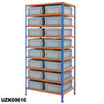 915mm Wide Shelving Kits With Euro Containers Thumbnail 6