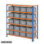 915mm Wide Shelving Kits With Euro Containers Thumbnail 7
