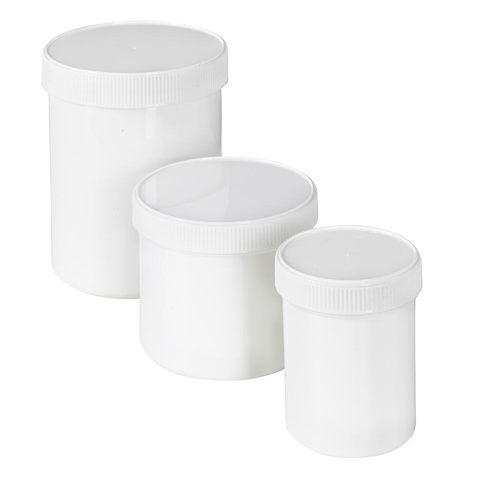 Plastic Screw Cap Jars