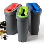 70 Litre Recycling Bins With Lid And Coloured Lid Insert Thumbnail 1