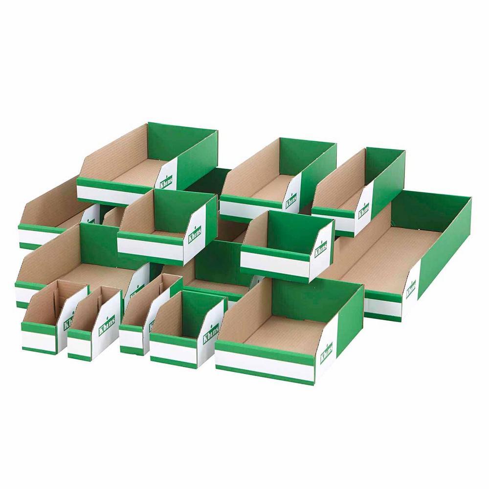 Flat Pack Cardboard Parts Bins 100mm High