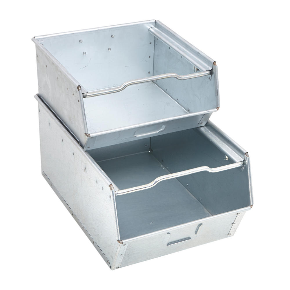 Galvanised Steel Vista Bins