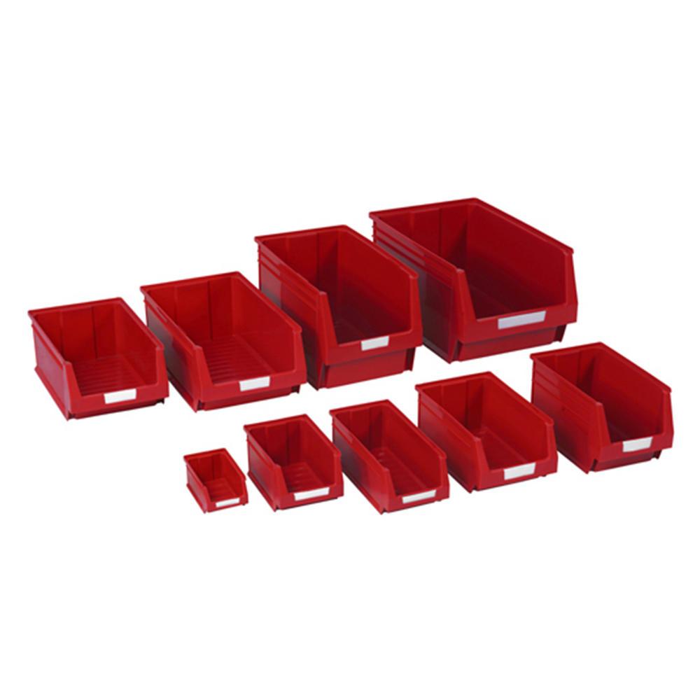 Red Plastic Parts Bins