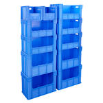 Open Front Blue Euro Stacking Containers Thumbnail 3
