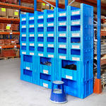 Open Front Blue Euro Stacking Containers Thumbnail 12