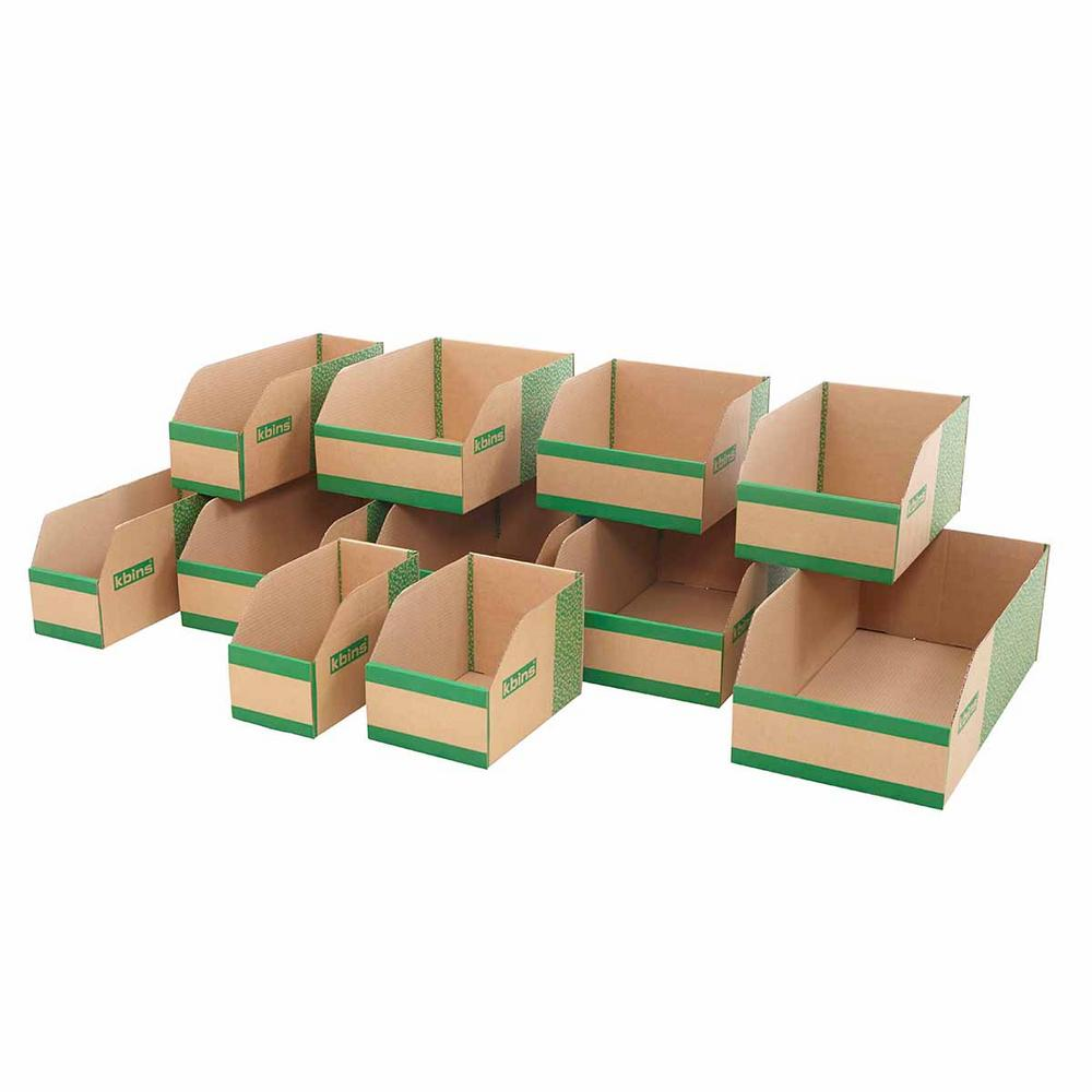 Flat Pack Cardboard Parts Bins 200mm High