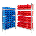 Chrome Shelving Bin Kits
