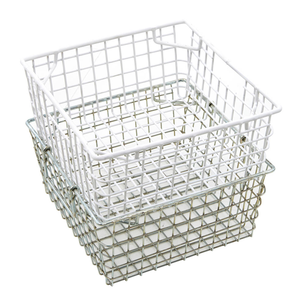 wire mesh tote baskets industrial bulk storage. Black Bedroom Furniture Sets. Home Design Ideas