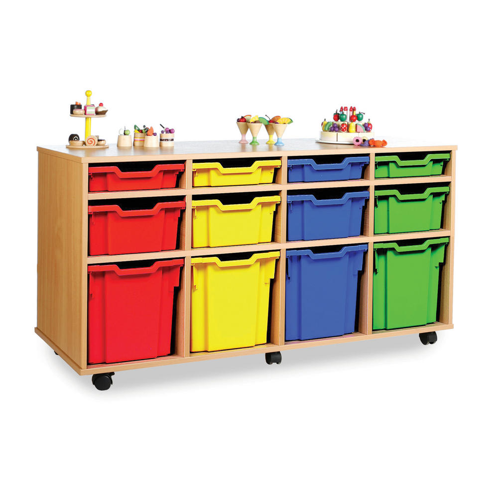 Gratnells 12 Variety Tray Wooden Units