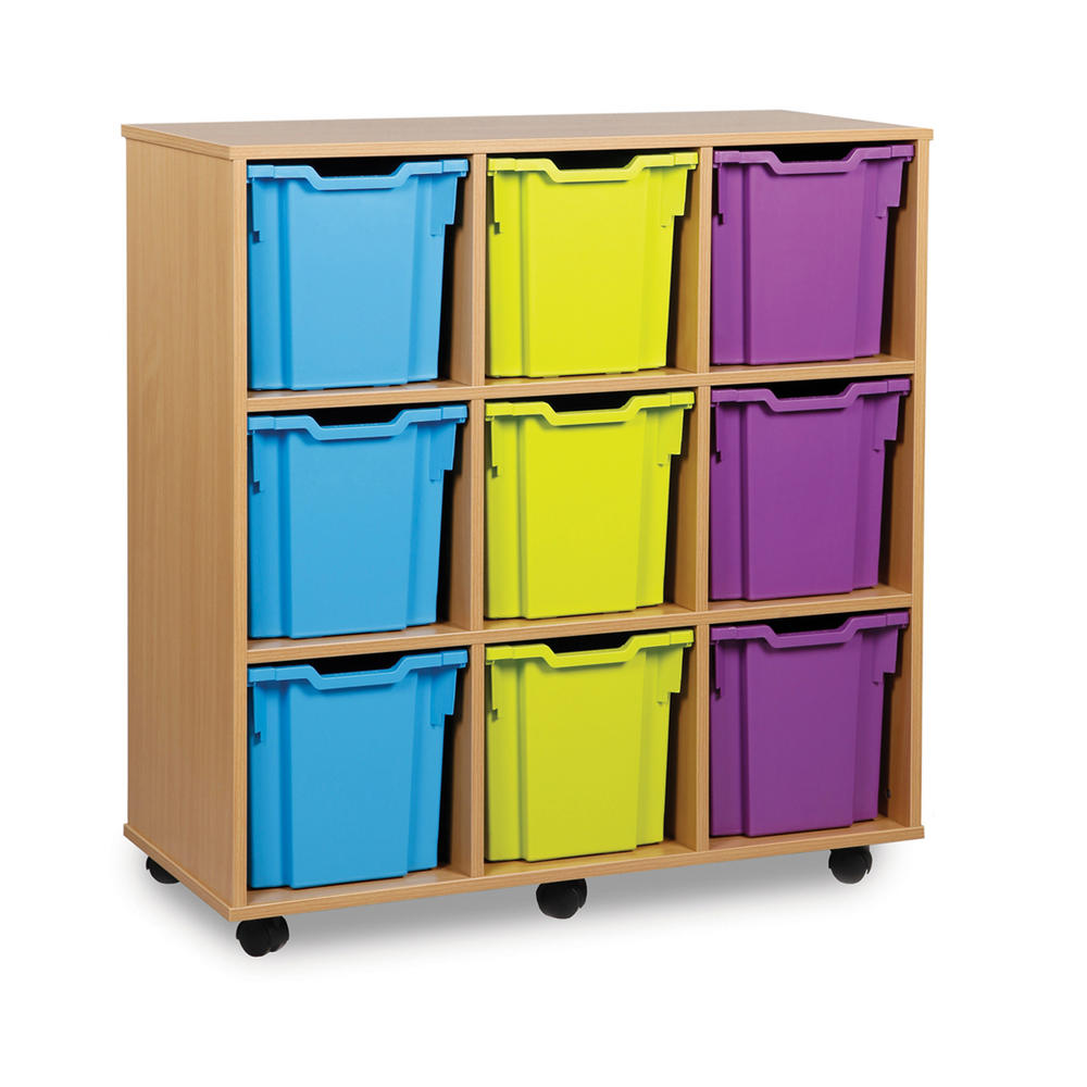 Gratnells 9 Jumbo Tray Wooden Units