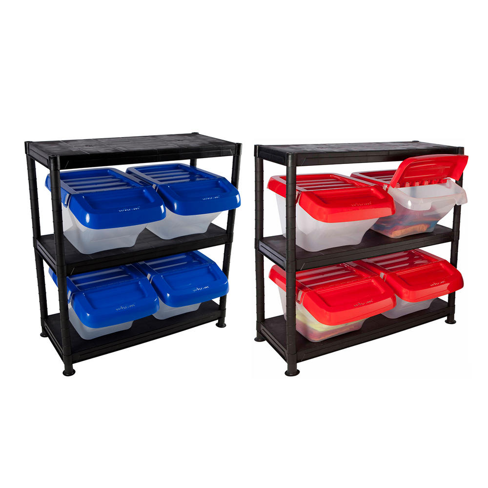 Plastic Storage Kits With Hinged Boxes