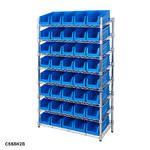 Mobile Chrome Slanted Shelving Bin Kits Thumbnail 6