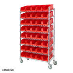 Mobile Chrome Slanted Shelving Bin Kits Thumbnail 8