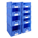 Euro Stacking Pick Bin Columns With Front Opening 800mm Depth