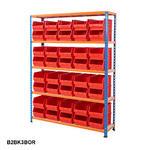 Blue & Orange Shelving With Plastic Bins Kits Thumbnail 5