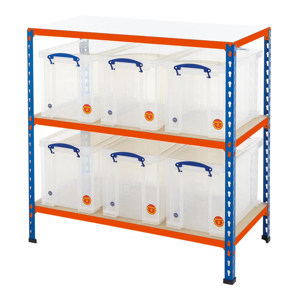 Shelving Bay With 24 Litre Really Useful Boxes