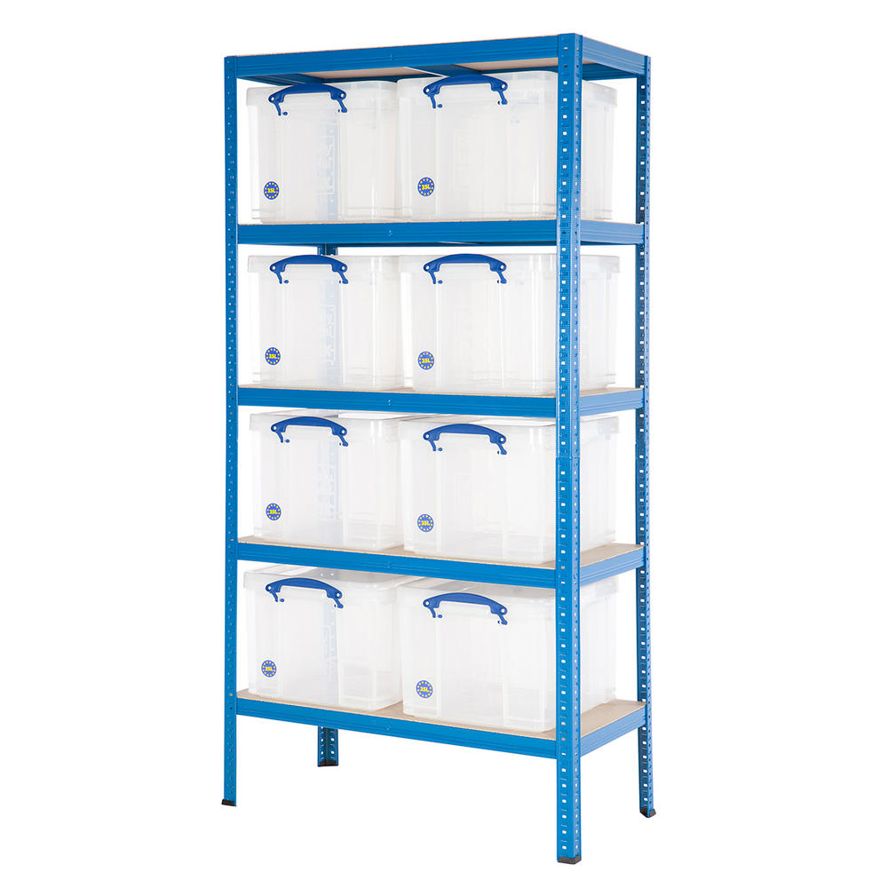 Shelving Bay With 35 Litre Really Useful Boxes