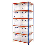 Shelving Bay With 10x 48 Litre Really Useful Boxes
