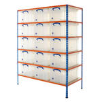 Shelving Bay With 15x 64 Litre Really Useful Boxes Thumbnail 1