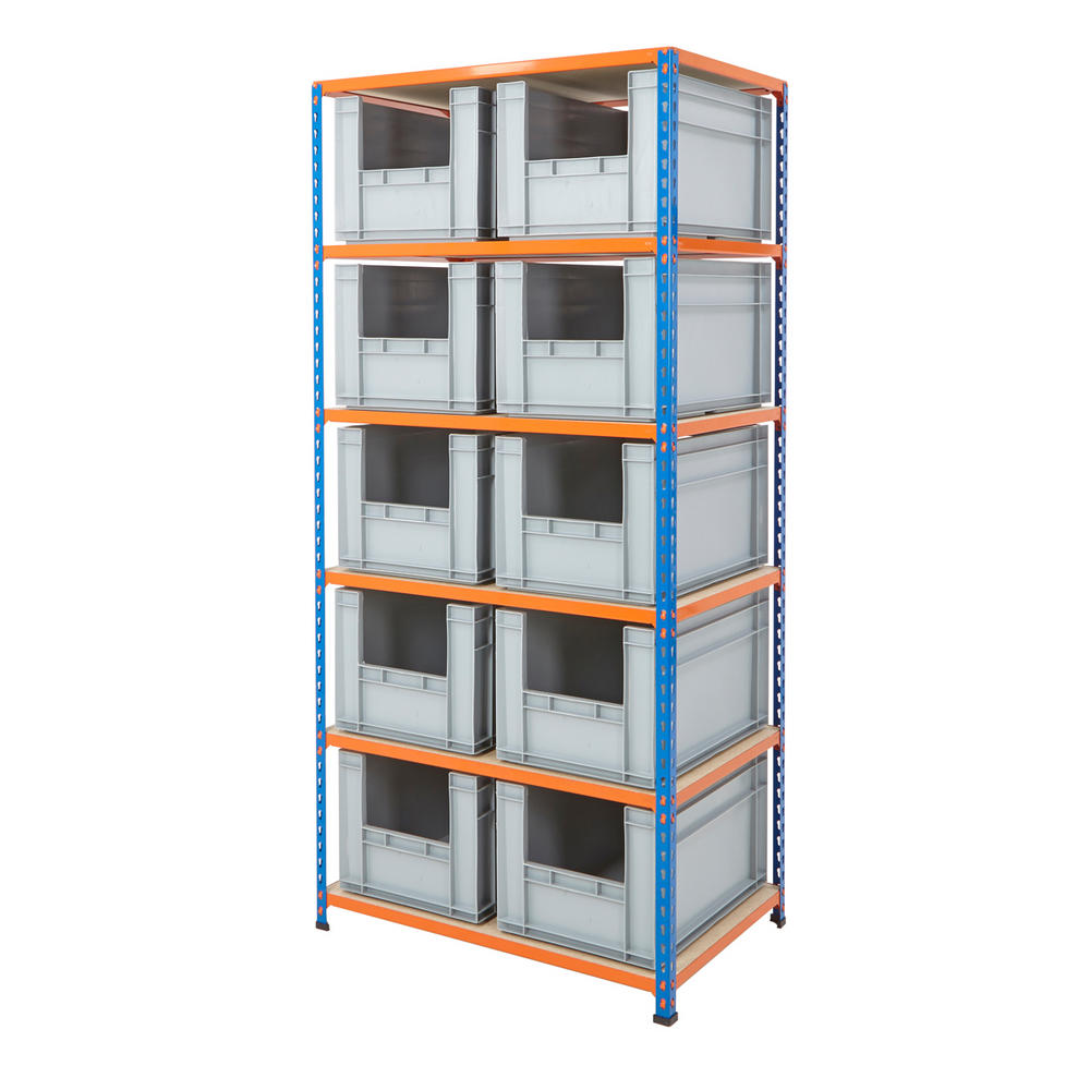 Shelving Kits With Grey Euro Containers