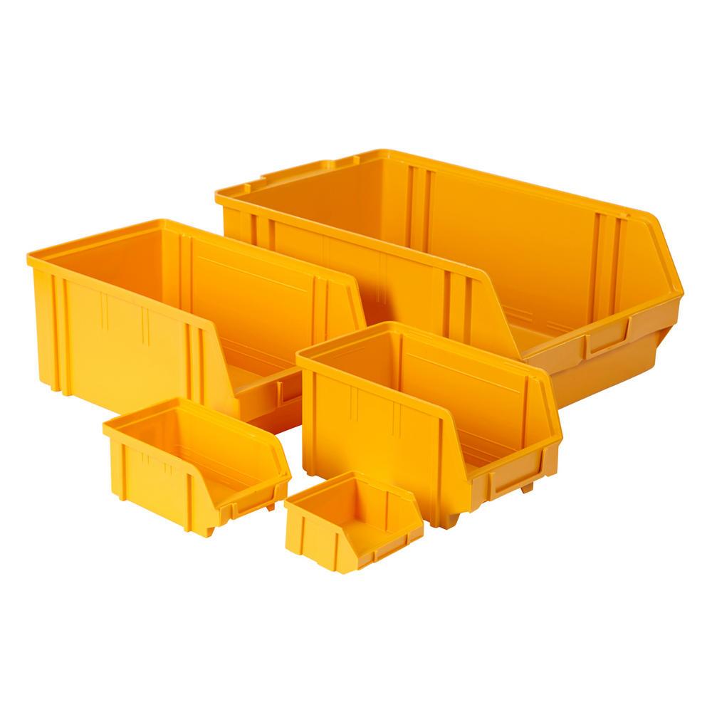 Value Plastic Parts Bins Yellow