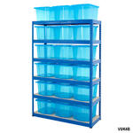 Shelving Storage Bays With Plastic Boxes